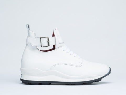 Opening Ceremony In White High Top Sneaker Womens