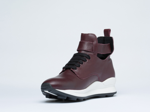 Opening Ceremony In Wine High Top Sneaker Womens
