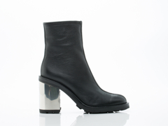 Opening Ceremony In Black Leather Isa Boot