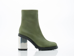 Opening Ceremony In Olive Green Leather Isa Boot