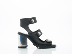 Opening Ceremony In Black Leather Isa Heel