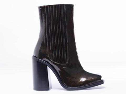 Opening Ceremony In Gold Glitter Luxor Chelsea Boot