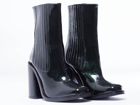 Opening Ceremony In Green Glitter Luxor Chelsea Boot