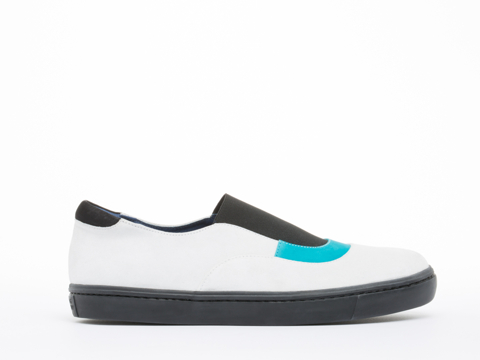 Opening Ceremony In White Multi Mason Slip On Mens