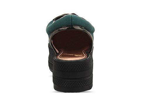 Opening Ceremony In Green Black Slingback Platform Sneaker