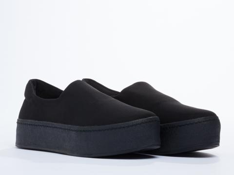 Opening Ceremony In Black Slip On Platform Sneaker