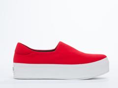 Opening Ceremony In Tiger Red Slip On Platform Sneaker