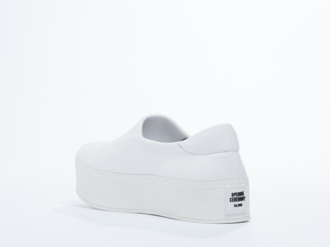 Opening Ceremony In White Slip On Platform Sneaker