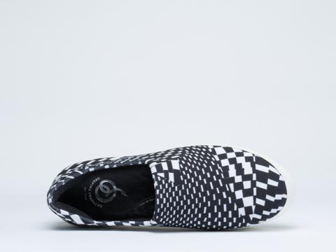 Opening Ceremony In White Techno Slip On Platform Sneaker