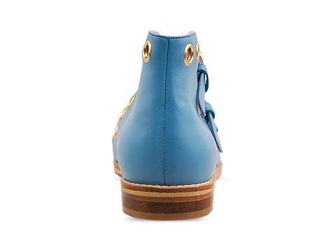 Opening Ceremony In Aqua Strassy Buckle Boot