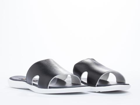 Opening Ceremony In Black White Zander Slip On Sandal Mens