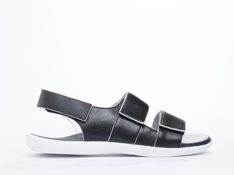 Opening Ceremony In Black White Zander Velcro Strap Sandal Mens