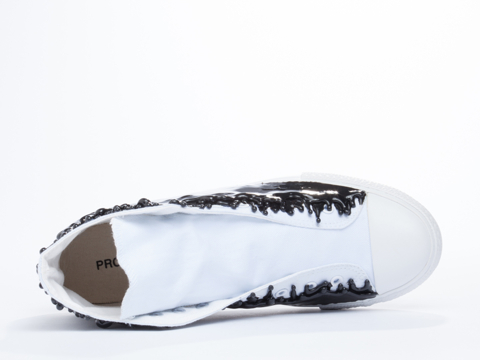 Prospekt In Black White D2-8 Anti Gravity Drip Sneakers