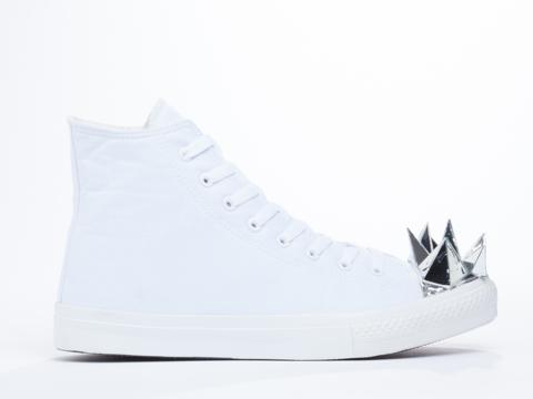 Prospekt In White MH2 Mirror Head Sneakers