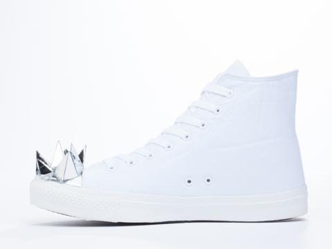 Prospekt In White MH2 Mirror Head Sneakers Mens