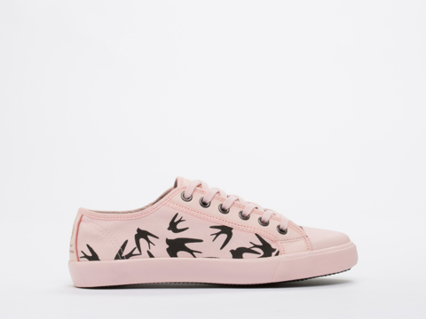 Puma Black X Alexander McQueen In Veiled Rose Rush Lo Womens