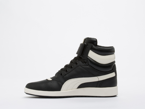 Puma In Black Marshmallow Sky Point Mid Womens