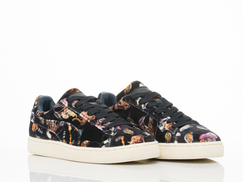 Puma X House Of Hackney In Midnight Basket Classic Lo