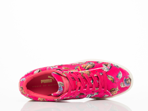 Puma X House Of Hackney In Pink Basket Classic Lo