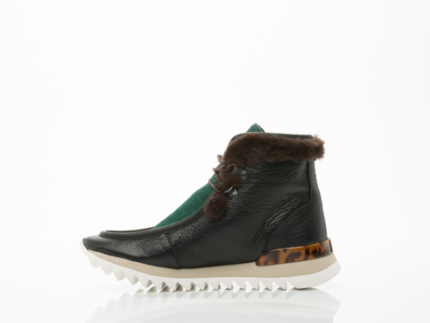 Rachel Comey In Green Hair Black Leather Combo Summit