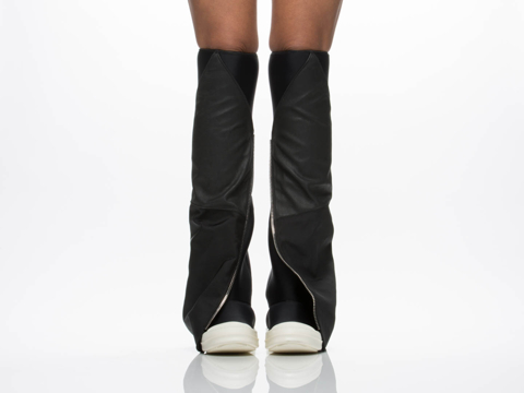 Rick Owens By Drkshdw In Black FW 14 Moody Fetish Boots