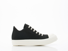 Rick Owens By Drkshdw In Black White Low Sneakers Mens