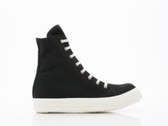 Rick Owens By Drkshdw In Black White Vegan Sneakers Mens