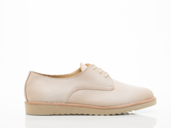 Rollie In Pale Pink Leather Derby Wedge Mens