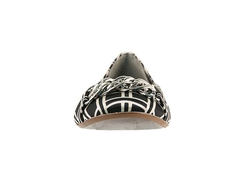 Sam Edelman In Black White Squares Silk Carmen