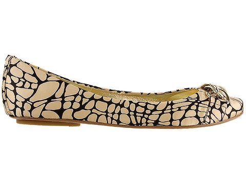 Sam Edelman In Nude Black Pebble Silk Print Carmen