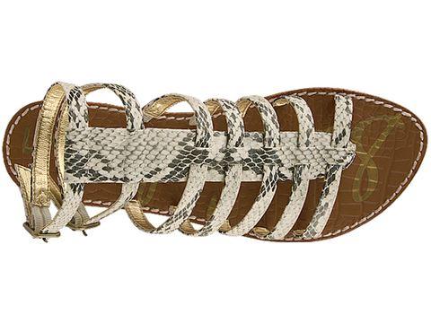 Sam Edelman In Black White Boa Snake Print Gilda