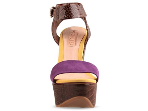 Schutz In Brown Purple Crocodile Casey