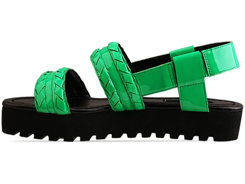 Senso In Fleuro Green Patent Black Sole Indiana