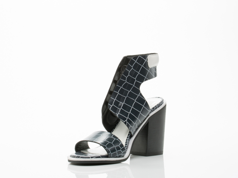 Senso In Monochrome Hi Shine Croc White Nappa Riley IV