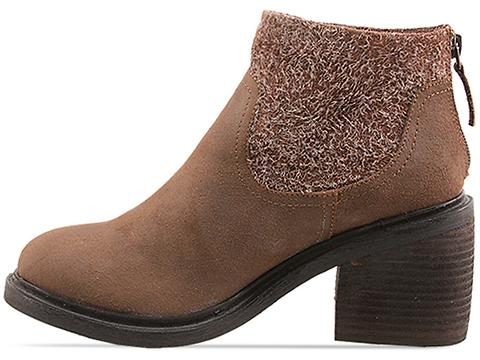 Senso In Taupe Waxed Suede Saka