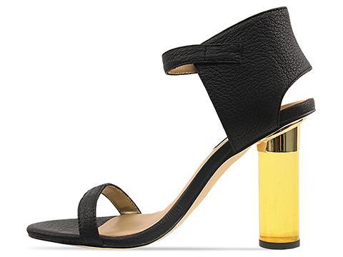 Senso In Black Yellow Plexi Heel Sasha
