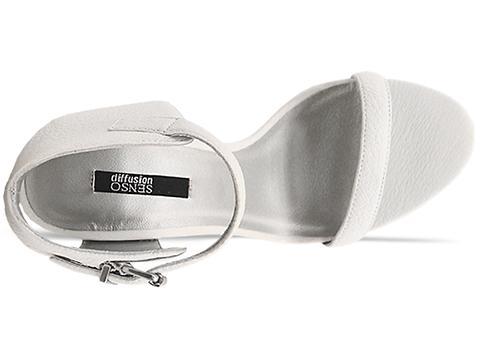 Senso In White Silver Plexi Heel Sasha