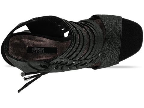 Senso In Black Leather Saure
