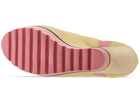 Senso In Yellow Leather Pink Sole Vendetta