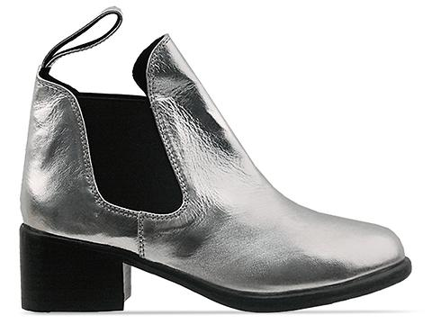 Shakuhachi In Silver Elastic Riding Boot