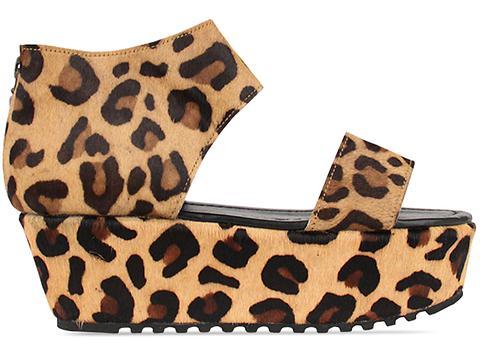Shakuhachi In Leopard Leopard Strap Sandals