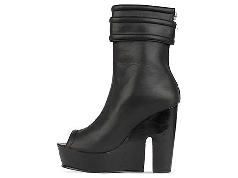 Shakuhachi In Black Warrior Wedge  Boot
