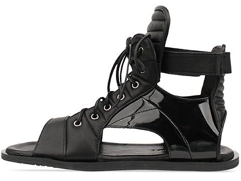 Skingraft In Black Lace Up Sandal Mens