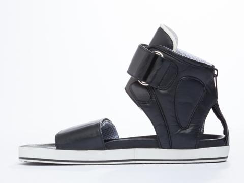 Skingraft In Black White Trainer Sandal Mens