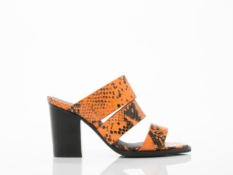 Sol Sana Bindi Heel in Orange Python size 12.0