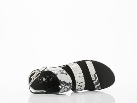 Sol Sana In Black White Python Clarissa Sandal