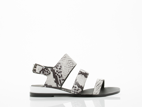 Sol Sana Clarissa Sandal in Black White Python size 12.0
