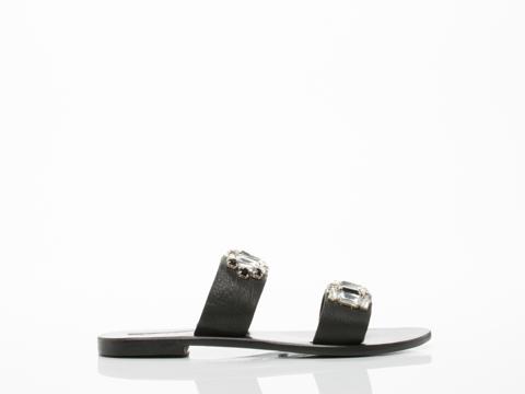 Sol Sana Drake Sandal in Black size 12.0