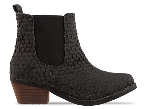 Soles In Black Woven Boot This