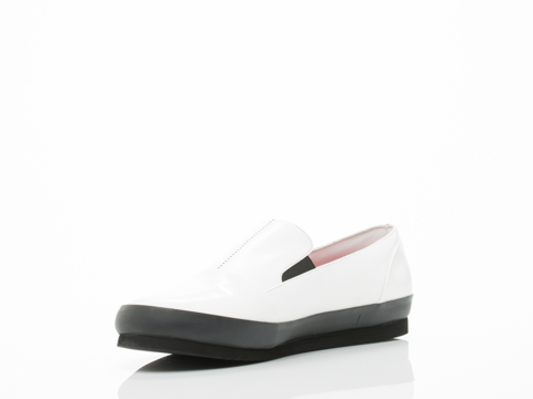 Somearethieves In White Black Shuttle Slip On Mens